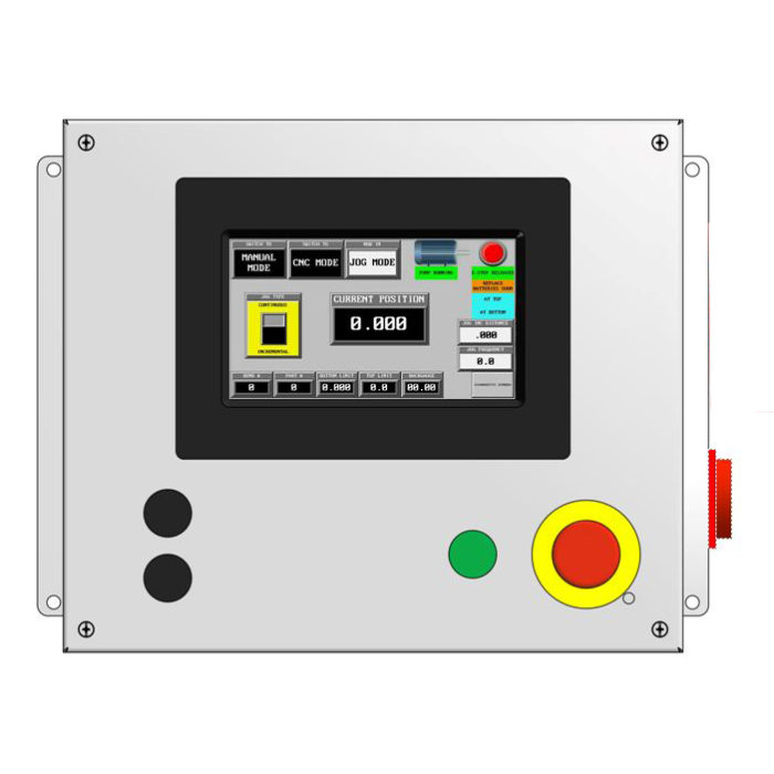 touch screen control for ironworker