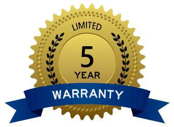 5 yr limited warranty